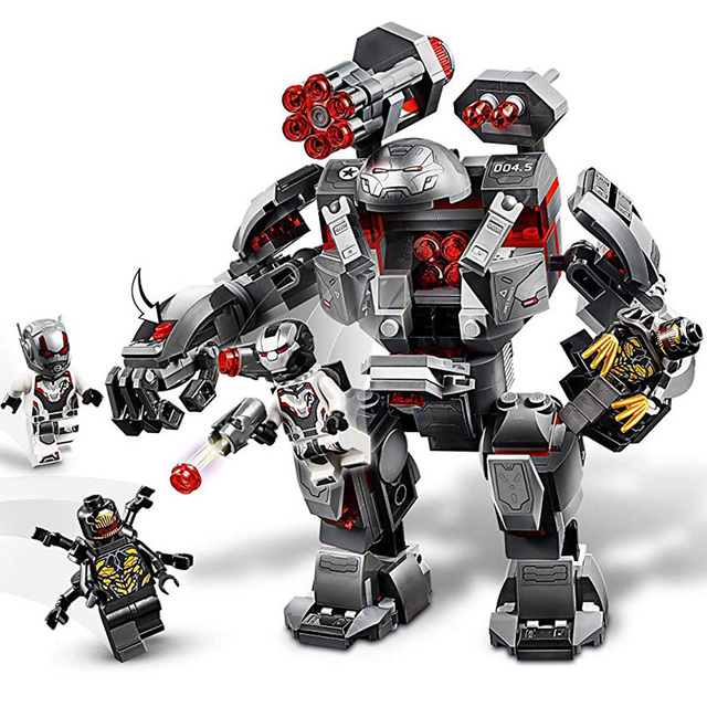 War Machine Compatible Marvel Avengers Endgame Super Heroes Model Building Blocks Boy Gifts Children Toys