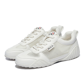 MOOLECOLE Spring New Breathable White Shoes Casual Comfortable Shoes Woman PU Lace-up Women Shoes Air Mesh Women Sneakers 2-31