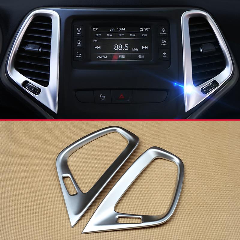 For Mitsubishi Outlander 2013-2018 ABS Chrome Dashboard Air Vent Outlet Trim