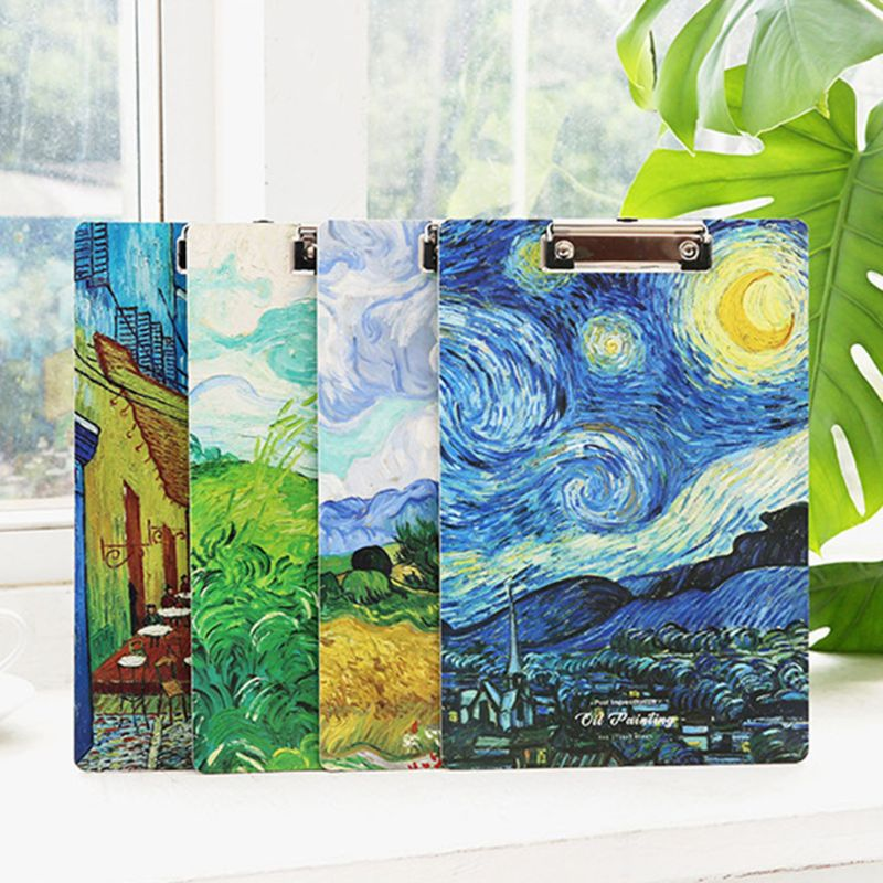 A4 Oil Painting Clipboard Writing Pad File Folders Board Clip Document Holder School Office Stationery Supplies