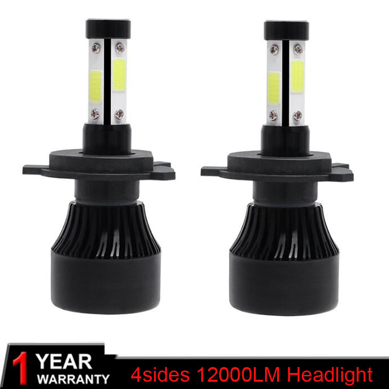 Elglux 2Pcs H4 <font><b>Led</b></font> <font><b>H7</b></font> H11 9004 9007 H13 9005 9006 9012 5202 Auto X7 Series Car <font><b>Headlight</b></font> Bulbs 80W 12000lm Auto Head Lamp 6500K image