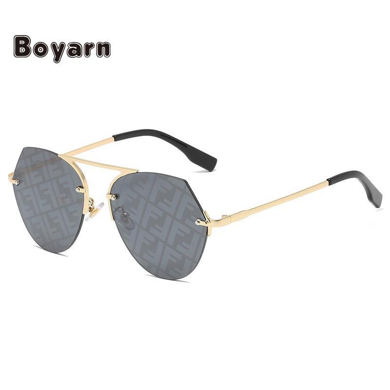 Новинка 2020, модные трендовые солнцезащитные очки Boyarn для мужчин и женщин, индивидуальные круглые очки, простой дизайн, универсальное стекло