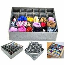 DHL 10pcs/lot 3 years warranty 30 Cells Bamboo Charcoal Ties Socks Drawer Closet Organizer Drawer Organizers Storage Box Gary