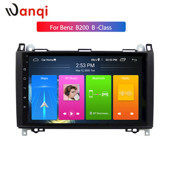 Wanqi 9INCH Android10 RDS CAR PLAYER for Mercedes-benz B200 W169 A160 Viano Vito GPS NAVI RADIO Split Screen PIP SWC NO DVD 1DIN image