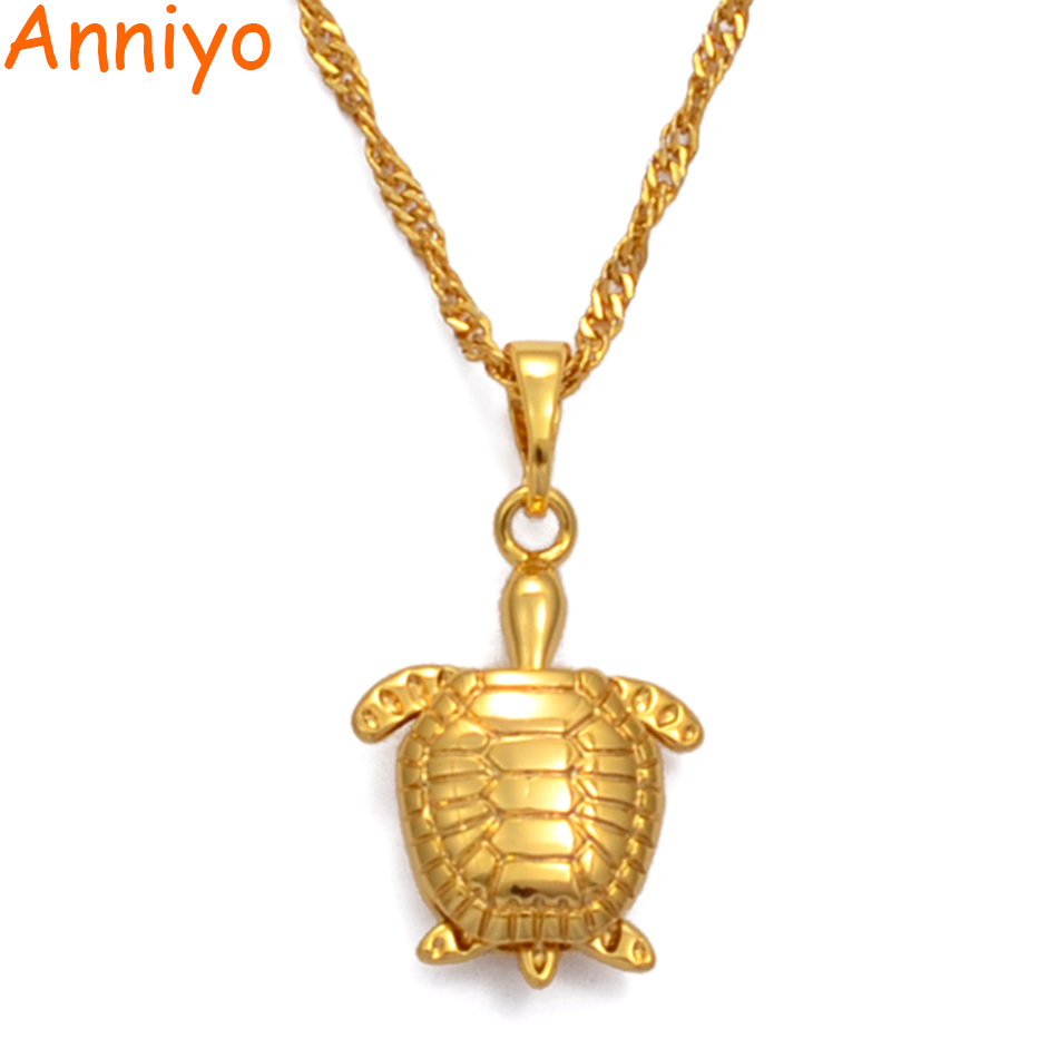 Turtle Necklace Turtle Pendant Necklace Turtle Jewelry Gifts Gold