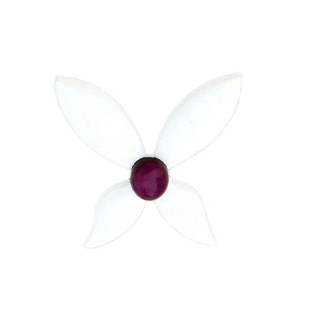 Hanrehse моли Божья коровка Pin фиолетовый камень бабочка брошь Божья коровка вечерние костюмы аниме модные ювелирные изделия из жемчуга для жен...