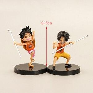 Image 4 - 3 pezzi/set anime artista infanzia Rufy Ace Saab tre fratelli bambola PVC collection modello giocattolo della decorazione della casa regalo di compleanno