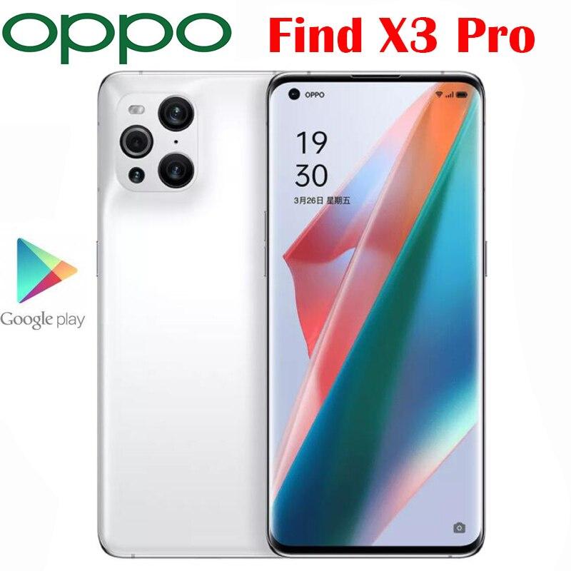 Новый Официальный Оригинал OPPO Find X3 Pro 5G сотовый телефон 6,7 дюймов AMOLED Snapdragon 888 65 Вт SuperVOOC 30 Вт Воздушный VOOC NFC 50.0MP Камера