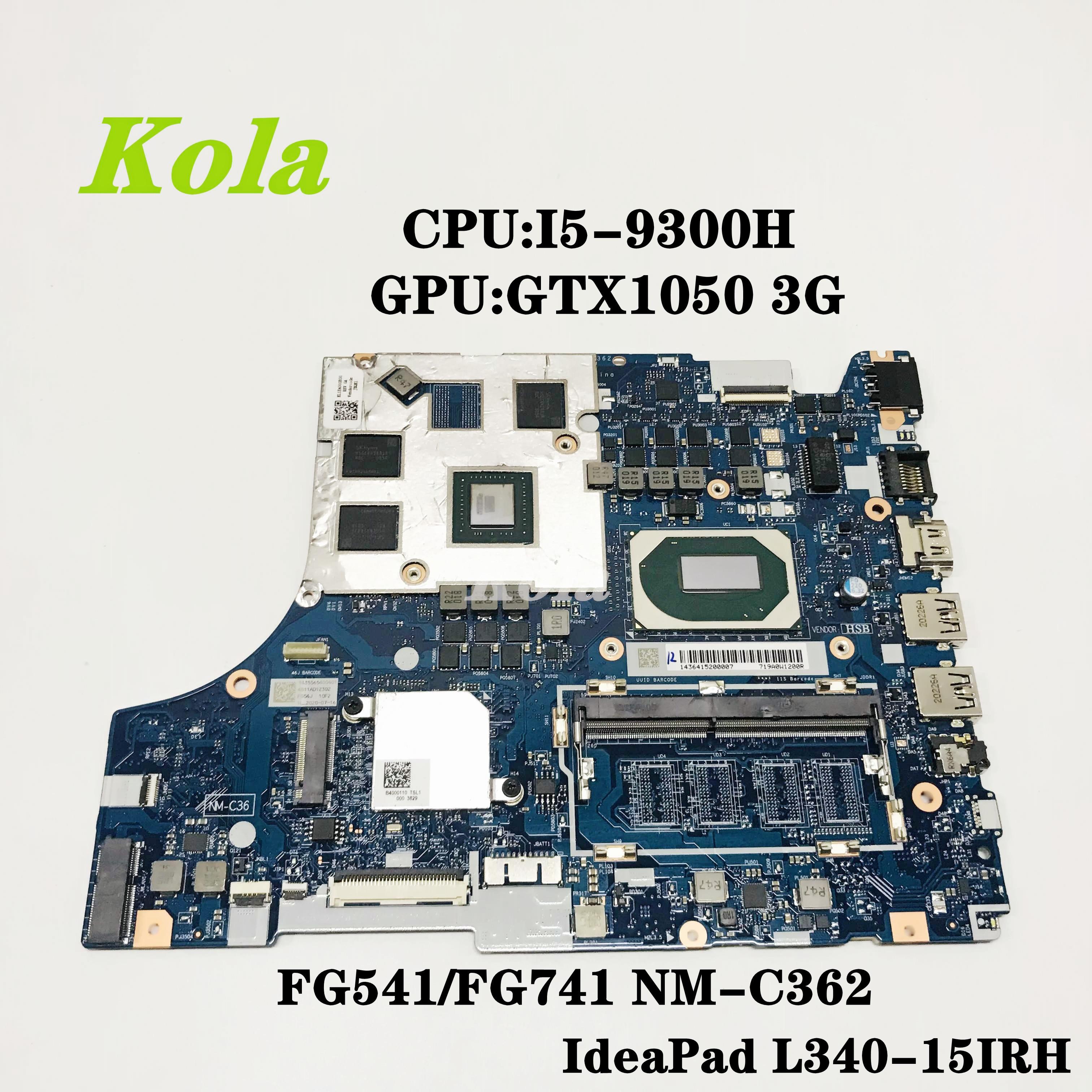 Оригинальный Для Lenovo L340-15IRH материнская плата портативного компьютера с процессор I5-9300H GTX1050/3G 5B20S44136 5B20S42311 NM-C362 100% полностью протестирована