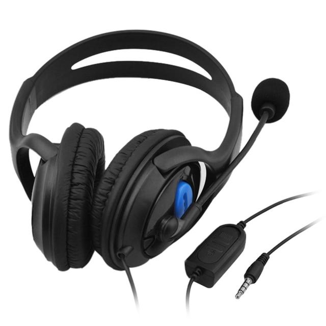 سماعات رأس سلكية للألعاب فوق الأذن ، 3.5 مللي متر ، سماعات أذن ستيريو ، موسيقى ، جهير ، مع ميكروفون ، لأجهزة PS4 ، الكمبيوتر المحمول ، الهاتف الذكي
