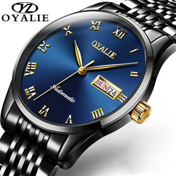 OYALIE Luxury Men Mechanical Wristwatch Stainless Steel  Watch Top Brand Sapphire Glass Men Automatic Watches reloj hombre ruimas automatic mechanical watch men luxury top brand retro business mens es male clocks wristwatch reloj hombre