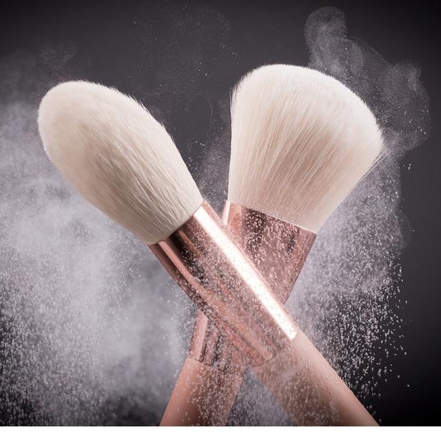 BEILI Pink Makeup Brushes High Quality Powder Foundation Blush Eyeshadow Make Up Brush Set  Natural Hair  brochas maquillaje 5