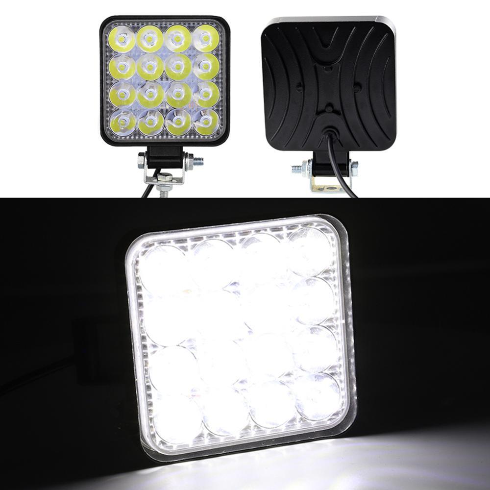 Square Work LED Light Bar 12V Spot 48W Car Light 1000LM 6000K Truck Tractor Off-road Spot Light ATV UAZ 4x4 led SUV DRL Fog Lamp(China)