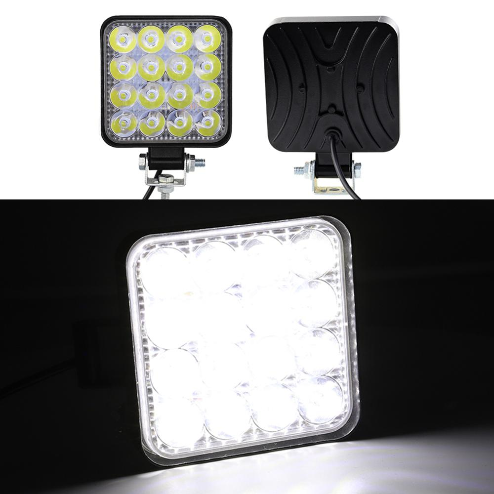 Square Work LED Light Bar 12V Spot 48W Car Light 1000LM 6000K Truck Tractor Off-road Spot Light ATV UAZ 4x4 led SUV DRL Fog Lamp