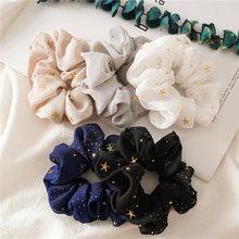 Brilhante-cinta elástica de gasa para mujer, pañuelo de pelo para niña, de algodón, titular, de cuello bajo