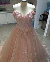 Detmgel Sexy bateau cou perles fleurs robe de bal robes de Quinceanera 2020 Appliques de luxe Debutante robe pour Vestido de 15 anos