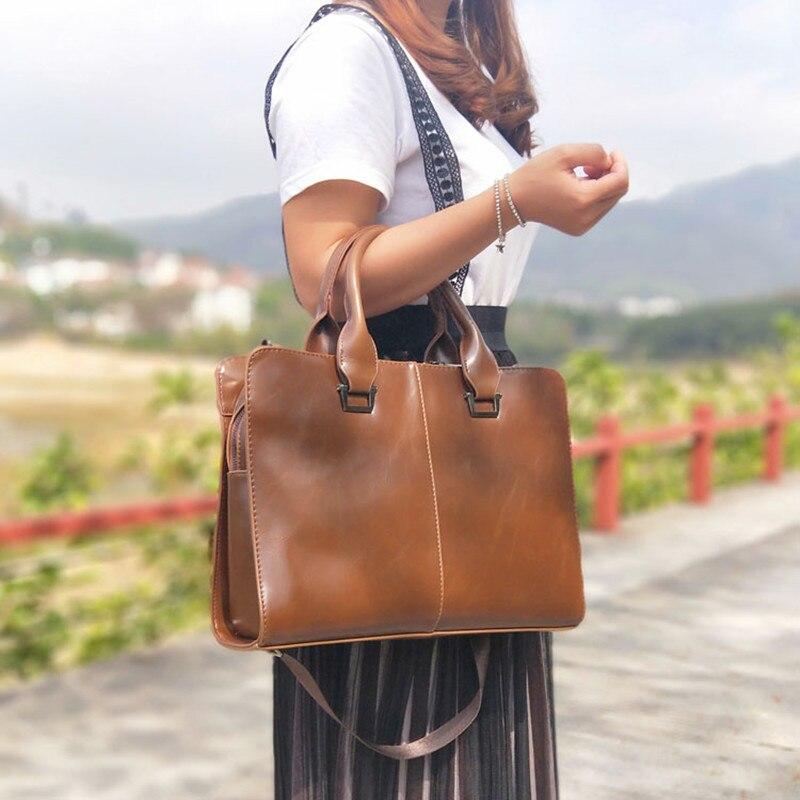 Vintage Women Messenger Bags Horizontal Literary Handbag Multifunction 13