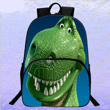 Fashion 16 Inches Cartoon Printing Dinosaur Kids School Bags for Teenager Backpack Boy Girl Bookbag Children Big Space Schoolbag cute kitten cats puppy dogs print backpack pencil bag for teenager boy girl children school bags kids bookbag women backpack