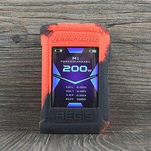 Image 5 - Koruyucu silikon kılıf için Geekvape Aegis X 200W vape kapak kauçuk cilt wrap Sticker kılıf kabuk gövde damper jel aegisx