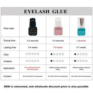 Image 5 - NATUHANA 5ml Eyelash Extension Glue 1 Seconds Fast Drying Eyelashes Glue Pro Black Lash Glue Makeup Tool Adhesive