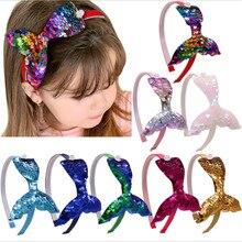 Explosive little mermaid sequined princess headband children fishtail pearl cute cartoon all-match headband