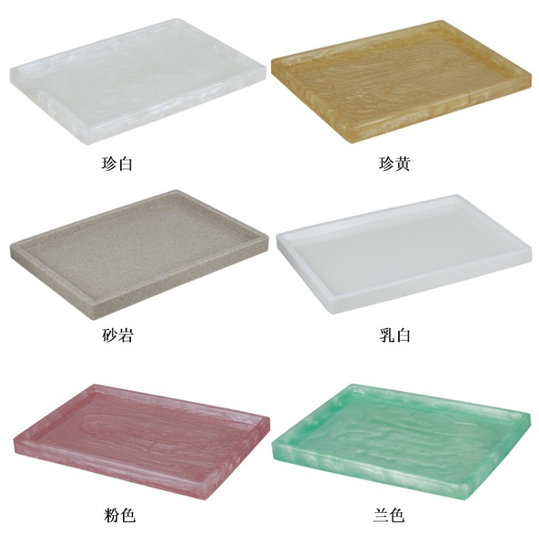 Поднос большого размера в скандинавском стиле из смолы с мраморной текстурой, поднос для ванной, тарелка для ювелирных изделий, органайзер для косметики, Сервировочная тарелка для отеля-5
