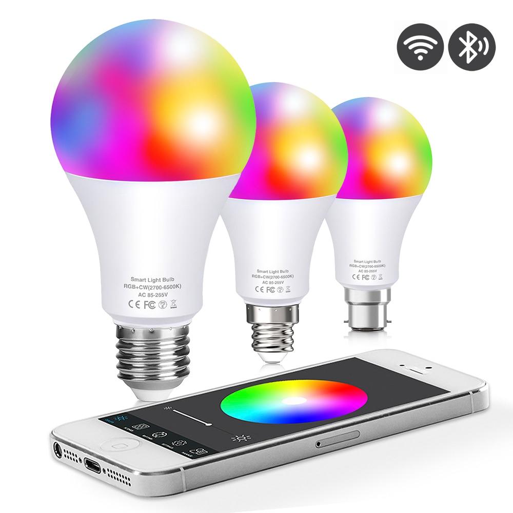 WI-FI смарт-лампа домашняя Светодиодная лампа Siri голосовой Bluetooth APP Управление Google умный дом затемнения светодиодные лампы Led светильник лампы...