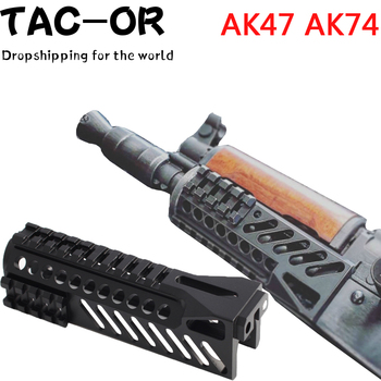 Tactical CNC Top Picatinny Rail Mount with Side Scope Rail Mount Handguard for Airsoft AK47 AK74 Hunting Rifle Accessory free shipping 12pcs cover ak47 ak74 tactical quad rails hunting handguard rail shooting ris quad rail mount accessories