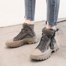 Sneakers Women Running Shoes Sport Woman 2019 Autumn/Winter Korean Causal Boots Gray/Black