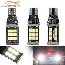 Luz estroboscópica para coche, luces LED de marcha atrás, lámpara de matrícula, Bombilla trasera de estacionamiento, intermitente, T15 921 W16W, 1 ud.