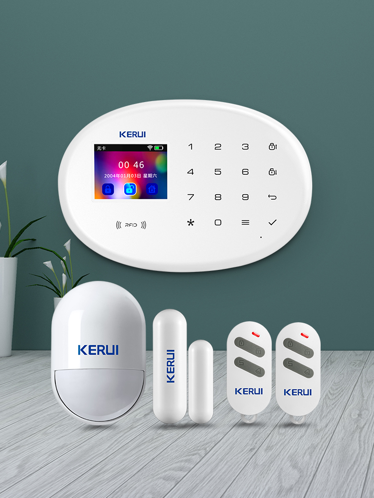 KERUI Alarm-System Burglar-Alarm Home-Security Touch-Panel Rfid-Card App-Control WIFI