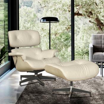 Furgle biały skórzany fotel repliki fotel wypoczynkowy z osmańskim kremem Ashwood szezlong klasyczny prawdziwy skórzany fotel wypoczynkowy fotel wypoczynkowy tanie i dobre opinie CN (pochodzenie) Nowoczesne meble do salonu Chair 34 3*34 3*33 5 inch(87*87*85 cm) Swivel Lounge Chair Europa i Ameryka