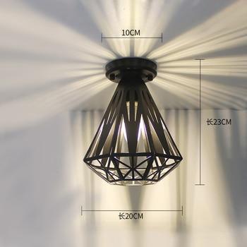 Ceiling lights Minimalist Retro Ceiling Lamp Glass E27 industrial decor  lamps for living room Home Lighting Lustre Luminaria 21