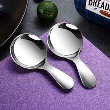 2 adet paslanmaz çelik kaşık küçük kahve çay Scoop Mini mutfak kaşık kaşık kahve şeker baharat çeşni kahve aksesuarları