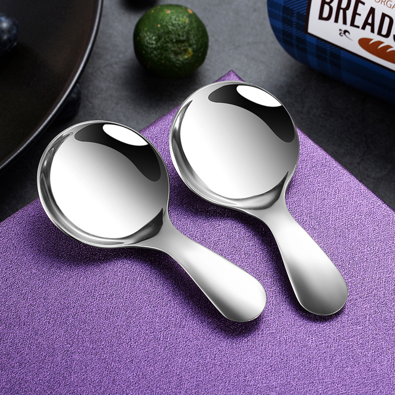2Pcs Stainless Steel Spoons Small Coffee Tea Scoop Mini Kitchen Scoop Spoon For Coffee Sugar Spice Condiment Coffee Accessories