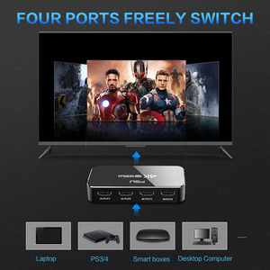 Image 2 - FSU HDMI Splitter 4อินพุต1เอาต์พุตHDMI HDR 4X1สำหรับHDTV PS4 4K Audio extractor 3.5แจ็คARC HDMI Switcher Adapter