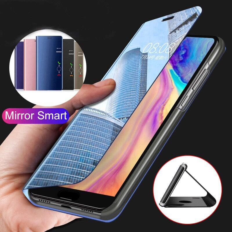 Case For Samsung Galaxy S20 S10 S9 Plus Case Mirror Smart View PU Leather Flip Cover For Samsung Galaxy S10E Note 20 S20 Ultra