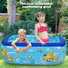 Engrossamento piscina inflável família verão quintal piscina piscina piscina ao ar livre jogar banheira para 1-3 crianças 51x35x22inch