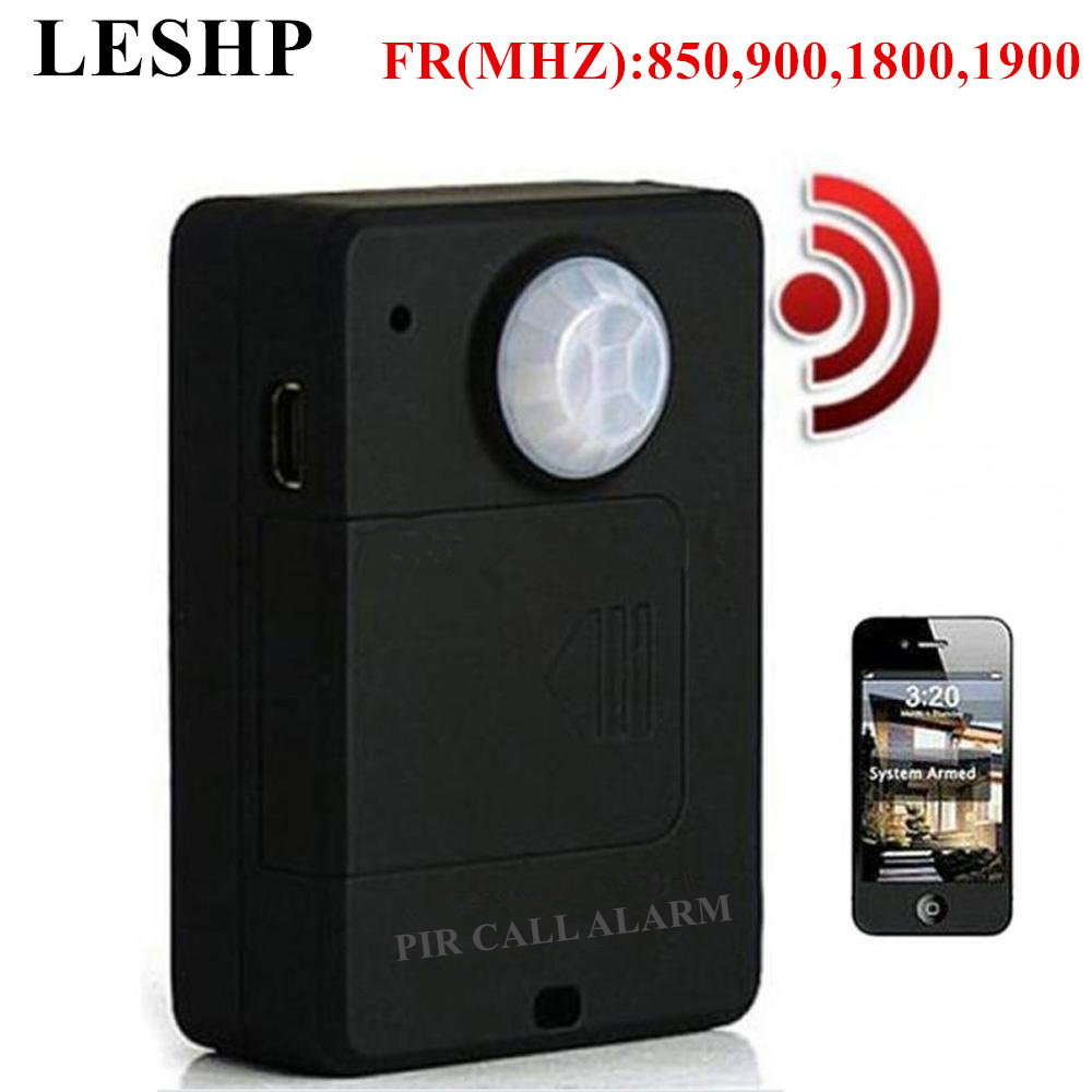 LESHP Mini PIR Alarm Sensor A9 Infrared GSM Wireless Alarm High Sensitivity Monitor Motion Detection Anti-theft EU Plug