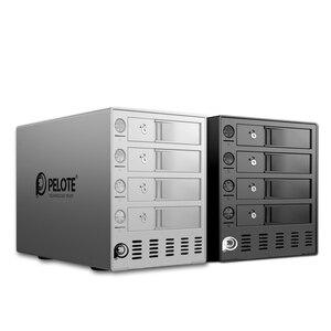 Image 5 - Aluminium 4 bay 3.5 Cal obudowa dysku twardego, wsparcie 64TB pamięci masowej USB3.0 UASP, stacja dokująca hdd narzędzie darmo z czterema przełącznikami