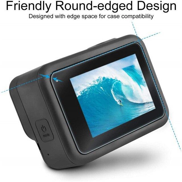 Sports camera Screen protectors for Gopro Hero 8 Tempered glass screen protector for Gopro 8 Lens Protector camera accessories 2