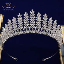 Sparkling Oversize Silver Full Zircon Bridal Tiaras Headpiece Crystal Crown Head Wear Wedding Dress Hair Accessory недорого