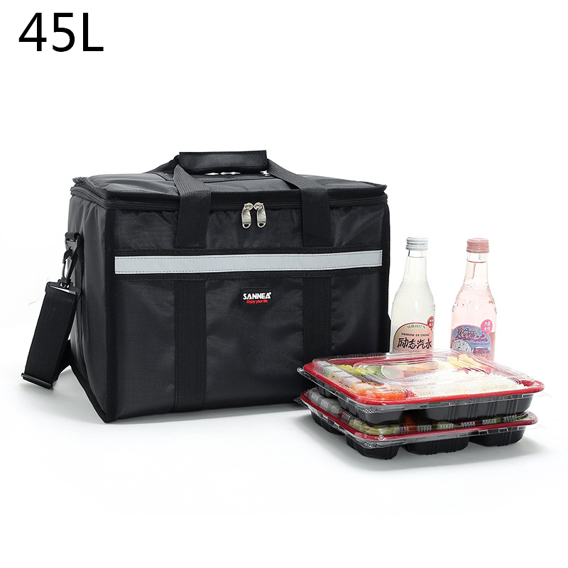 45L Insulated Cooler Bag Grocery Tote Large  Box Insulated Bags With Zippered Top