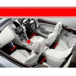 Image 5 - RGB LED música de coche Control de sonido de voz ambiente decorativo Interior Auto RGB Pathway Luz de suelo tira de Control remoto 12V