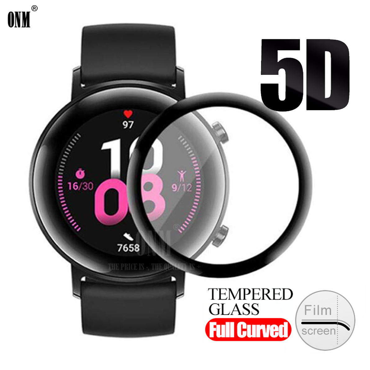 GT2 5D Coverage Screen Protector Film For Huawei Watch GT 2 42MM Soft Round Screen Protector Cover Accessories (Not Glass)