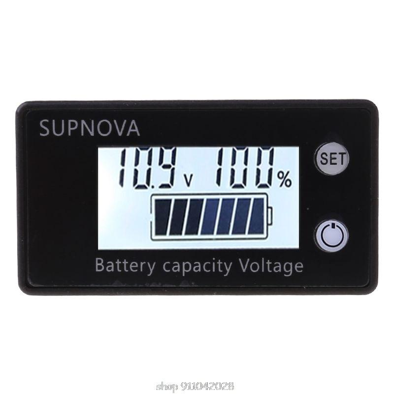 Индикатор емкости аккумулятора 8-100 В постоянного тока свинцово-кислотный литиевый вольтметр LiFePO4 для автомобиля мотоцикла напряжение 12 В 24 ...