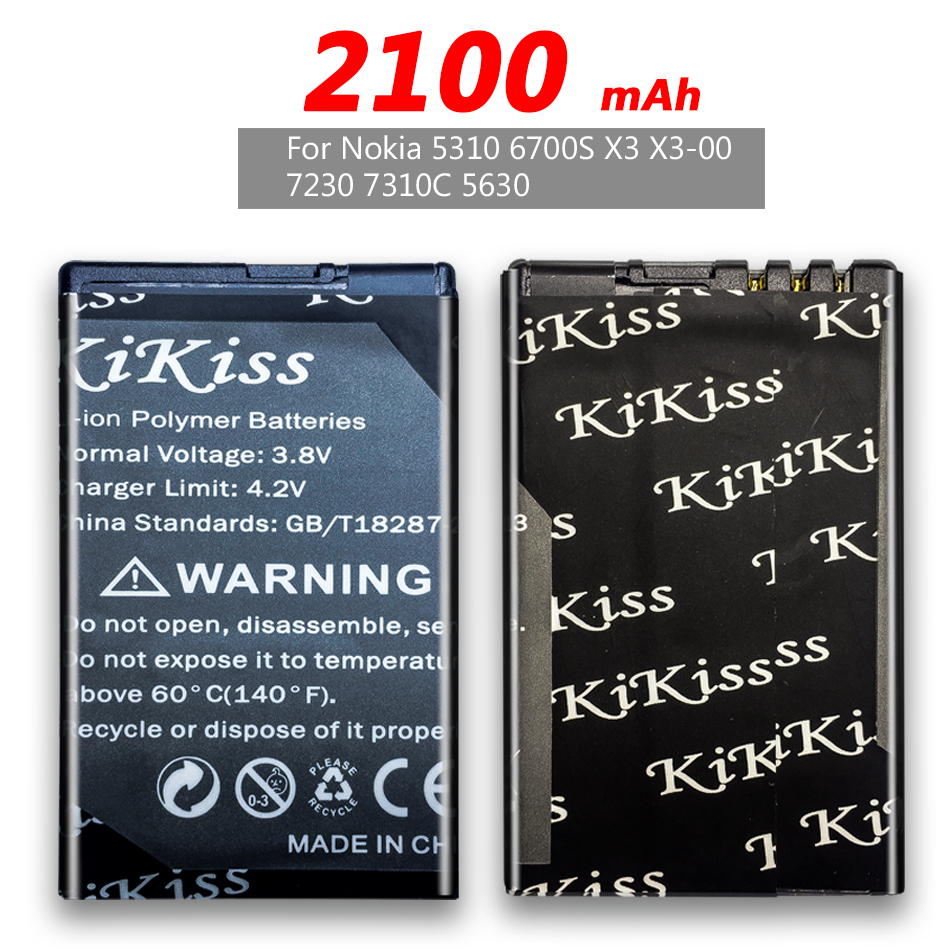 BL-4CT BL4CT BL 4CT Battery For <font><b>Nokia</b></font> 5310 6700S X3 X3-00 7230 7310C 5630 2720 <font><b>2720A</b></font> 7210C 6600F Battery 2100mAh +Track NO. image