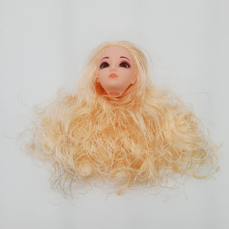 1//6 Doll Head Doll/'s Head Pink Wavy Hair DIY Accessories Heads For 11.5inch Doll
