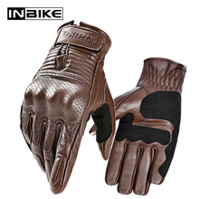 INBIKE Goat Leather Gloves for Motorcycle Anti Friction Motorbikes Gloves Micro Fiber Protective Gear For Guantes Motor Gloves
