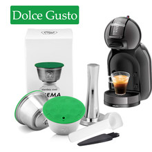 ICafilas многоразовая капсула для dolce&gusto Inox для Nescafe dolce&gusto кофейная капсула из нержавеющей стали фильтры для вскрытия ложки